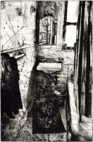 "Mirror 1999. Etching & Engraving (Edition of 45) 24x18"" 61x46 cm"