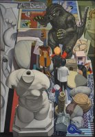 Still life with Cubist Infiltrations 1999 42 x 61 cm
