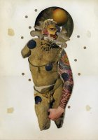 Masker 2014. Collage on paper 35 x 24.8 cm
