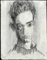William Utermohlen Self Portrait 1955 Pencil on paper 28 x 21 cm Collection Dimitri Papalexis, Paris.