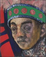 W.Utermohlen Mummers - An Old Man, 1969, oil on canvas, 25.5x20.5 cm