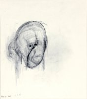 William Utermohlen Head I, August 30 2000 Pencil on paper 40.5 x 33 cm