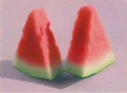 Slices of Watermelon IV 2011 colored pencil on paper 15.9 x 21.5 cm