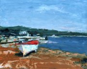Misha Goro Second Spiaggia towards Gaios 2015 oil on board 20.5 x 25.5 cm