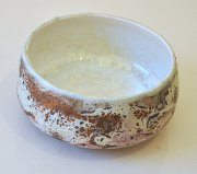 Chloe Peytermann Brun Violet de Terre Bowl 2015, glazed colored clay with engobe - upside down-
