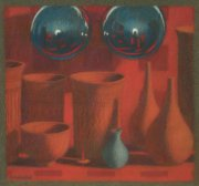 Pottery and spheres 2011 pastel on paper 20 x 19 cm