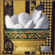 Bowl of Rocks 1998 oil on canvas 41 x 41 cm