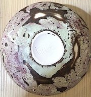 Chloe Peytermann Brun Violet de Terre Bowl 2015, glazed colored clay with engobe